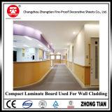 Tarjeta incombustible del laminado del compacto para el panel de pared del hospital