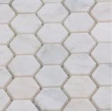 Heißer Verkaufs-neues Art Cararra Hexagon-Marmor-Mosaik