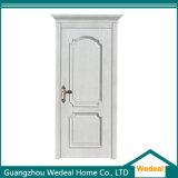 Porta de painel branca de madeira contínua para casas