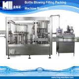 Muelle de la naturaleza de la máquina de llenado de botellas de agua mineral.