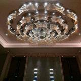 Morden e lampada Pendant di cristallo di lusso del grande di formato hotel rotondo del fiore