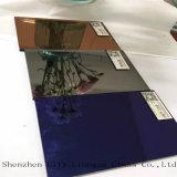 espejo de plata claro y colorido del espejo azul de la joyería de 3m m, espejo coloreado de cristal para la decoración