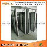 Singola camminata del metal detector di zona tramite il metal detector del blocco per grafici di portello