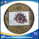 Монетка возможности с античной латунной плакировкой