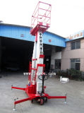 plataforma de trabajo aéreo eléctrica del mástil de la aleación de aluminio 12meter (GTWY12-200SB)