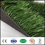 Hierba sintética de hierba verde de bajo costo para campos de fútbol