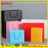 Sacos de compra do papel do presente do punho da alta qualidade/saco relativos à promoção da embalagem