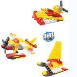 Niños de plástico 3 en 1 bloque de juguete helicóptero