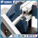 Profilo di alluminio industriale anodizzato d'argento personalizzato per industria del macchinario