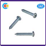 DIN/ANSI/BS/JIS Carbon-Steel/Stainless-Steel Pan/4.8/8.8/10.9 Tornillo autorroscante Cruz galvanizada para la construcción de ferrocarriles