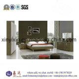 Muebles americanos del dormitorio del color del roble de la base de cuero de lujo de la PU (B19#)