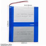 батарея Li-Po полимера лития 3.7V 5600mAh 39100124 перезаряжаемые для PC таблетки крена силы GPS PSP DVD E-книги пусковой площадки DIY