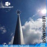 18m/20m/30m de la luz del estadio de 2000W de iluminación de poste de acero telescópico mástil alto