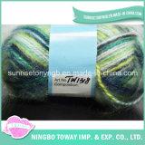 Poliéster Acrílico Fios Knitting Pattern Scarf Melhor Fio para Crochet