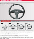 Dekking van het Stuurwiel van Pu +Peach de Houten van de Toebehoren China van de Auto