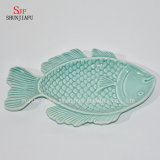 Plaque-Océan en céramique Series/B de dîner de vaisselle au vinaigre de champ de cablage à couches multiples de poissons
