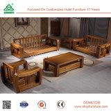 Tabella di tè e sofà molle di legno dell'ammortizzatore