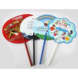 Ventilatore personalizzato promozionale della mano dei pp, ventilatore piegante di plastica