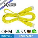 Le câble plat de Sipu 1.4V HDMI avec l'Ethernet 24k supporte 3D