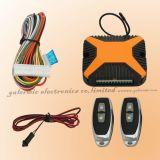 Boîtier orange du système de verrouillage centralisé de la voiture avec télécommande