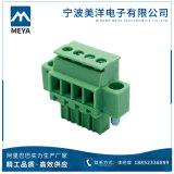 녹색 검정 2.5mm 3.81mm 5.08mm Scressless 끝 구획 연결관