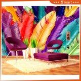 Pintura al óleo colorida de la pluma 3D para la sala de estar decorativa