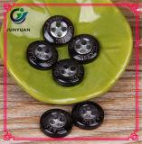Черная кнопка смолаы предохранения от литерности 4holes для рубашки