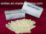 Pre-Напудренная перчатка рассмотрения латекса или свободно порошка/Guantes De Examinacion