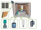 Dispositivo di raffreddamento di aria evaporativo della nuova della parete della finestra del tetto acqua industriale dell'invertitore con 4 rilievi di raffreddamento