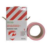 Sicherheits-warnende Sperren-Band-rotes und weißes Farben-Vorsicht-Band