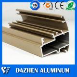 Profil en aluminium en aluminium d'extrusion de guichet et de porte avec l'enduit de poudre