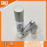Bottiglia senz'aria cosmetica di Alumininum del fornitore con lo spruzzatore bianco della pompa