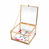 Antiker kundenspezifischer handgemachter Glasschmucksache-Geschenk-Kasten (JB-1068)
