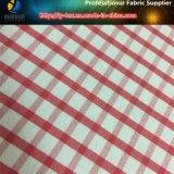 Tessuto della camicia dell'assegno tinto filato di nylon rosso di stirata del percalle (YD1166)