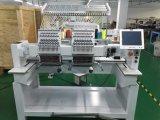 2本のヘッド15針の大きいスクリーンが付いている高速刺繍機械