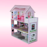 Casa de madera del juego de los cabritos, mini casa de madera hermosa F0373