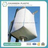 Blanco PP tejido gran bolsa de contenedores jumbo