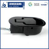 Puntal ajustable del soporte del gas con el microteléfono negro usado para la silla del sofá