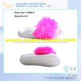 Mulher Elegante Mulher Deslizadora, EVA Winter Warm Fuzzy Slipper