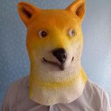 Masque pour chien Latex Hachiko pour fête, Masque de Halloween