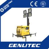 Singola torretta di illuminazione diesel raffreddata aria del generatore LED del cilindro 5kw