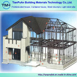 Chalet de lujo de la estructura de la casa prefabricada de acero ligera económica moderna del chalet