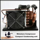 Unidad de condensación del refrigerador de la refrigeración micro innovadora de la C.C. 24V con el compresor de la refrigeración para el pequeño dispositivo de enfriamiento