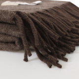 612020 100% Yak de lujo de doble lado color natural Weave manta