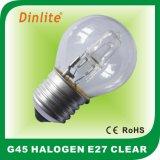 Globe de haute qualité G45 E27 Lampe halogène