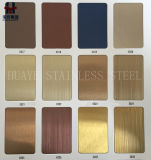 Inox 201 Roestvrij staal Gekleurd Blad 304 voor de Decoratie van de Keuken van de Lift van de Deur van de Muur
