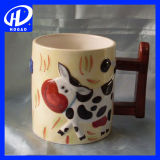 創造的な手塗り3D動物の漫画のキリンのマグの陶磁器のホームコーヒー・マグのギフト
