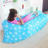 Piscina Lazy Sofá cama inflável Praia de ar na saída do Saco de Dormir