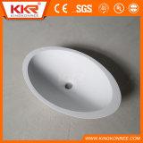 Раковина ванной комнаты тазика мытья камня смолаы Kingkonree твердая поверхностная