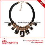 Collana dorata del Choker del partito della lega di modo con grande Pendent di cristallo